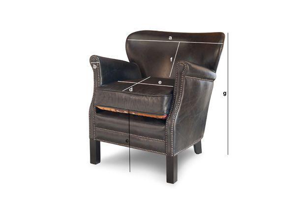 Produktdimensionen Sessel Professor Turner schwarz