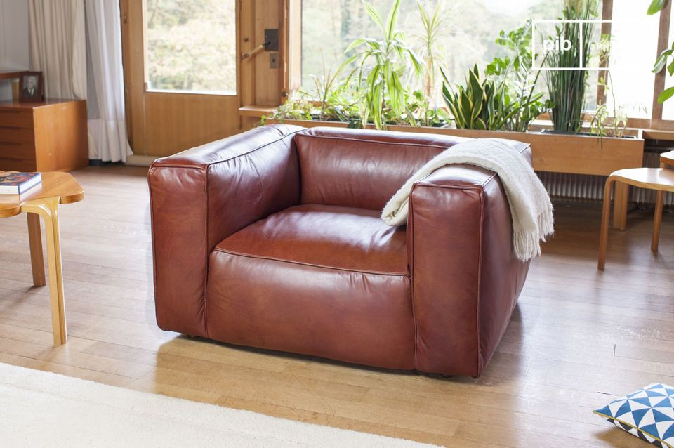 Ein Sessel aus exeptionellem Leder