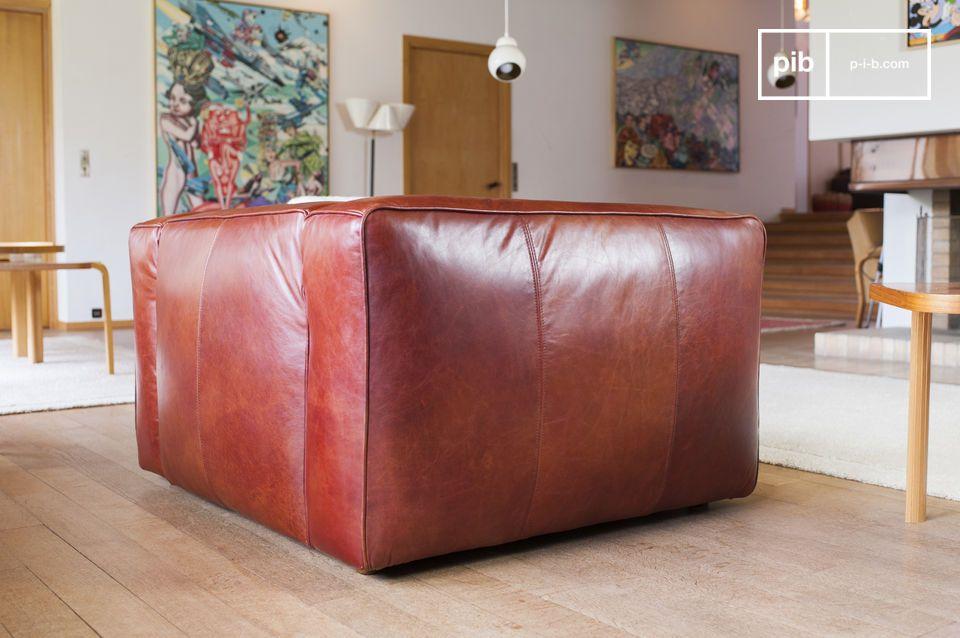 Dieser vintage Krieger Sessel ist zu 100% aus Leder und hat einen eleganten vintage Look