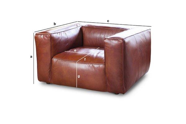 Produktdimensionen Sessel Vintage Krieger