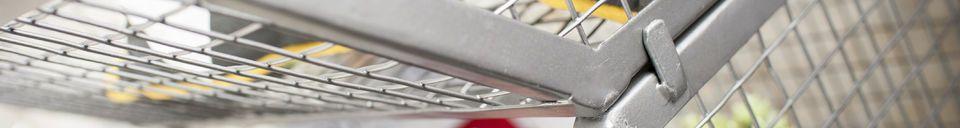 Materialbeschreibung Set mit 4 stapelbaren Lagerkörben Kurt