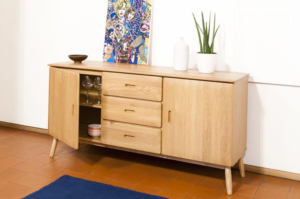 sideboard aus eichenholz helles holz rundungen und pib. Black Bedroom Furniture Sets. Home Design Ideas