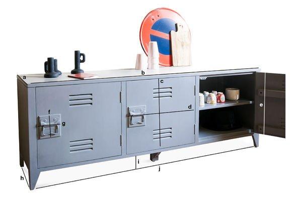 Produktdimensionen Sideboard Kilit