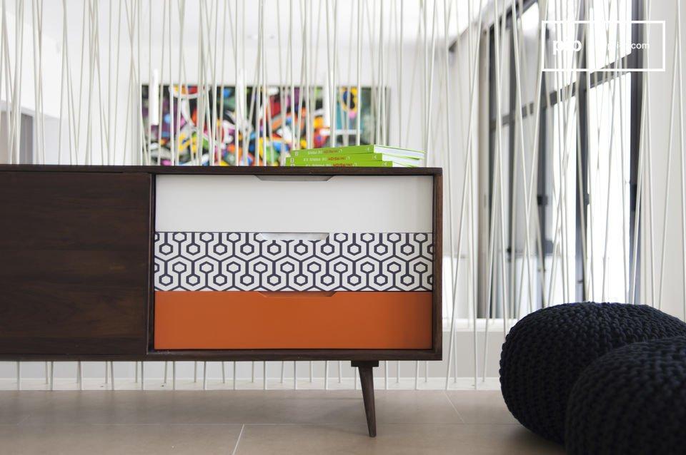 sideboard londress aus nat rlichen holz gefertigt pib. Black Bedroom Furniture Sets. Home Design Ideas