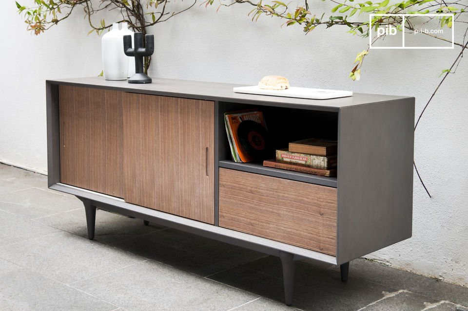 sideboard tumma fjord holzkontrast skandinavisch pib. Black Bedroom Furniture Sets. Home Design Ideas