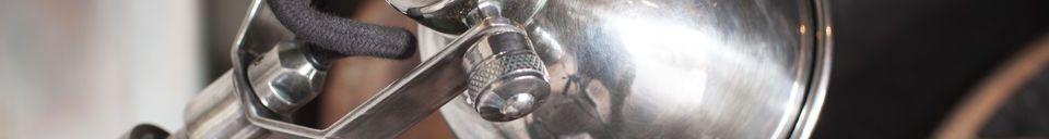 Materialbeschreibung Silber Teleskop-Wandleuchte Tuk