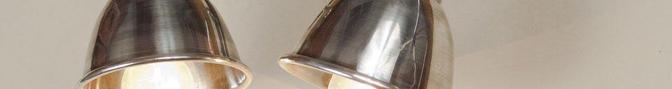 Materialbeschreibung Silberfarbene Doppelwandleuchte