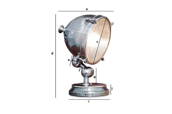 Produktdimensionen Silberfarbene Scheinwerferleuchte