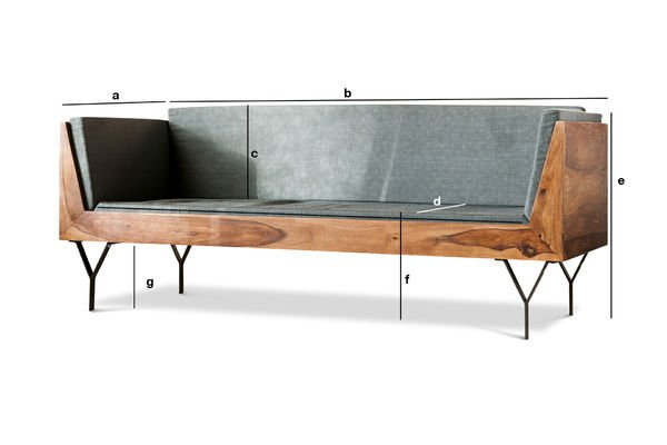 Produktdimensionen Sitzbank Mabillon