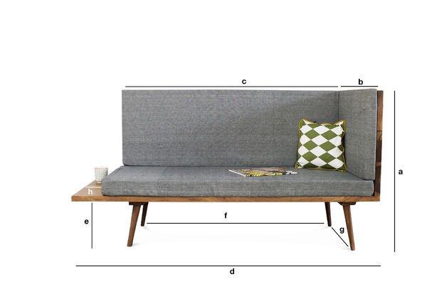 Produktdimensionen Sitzbank Sensila Revers