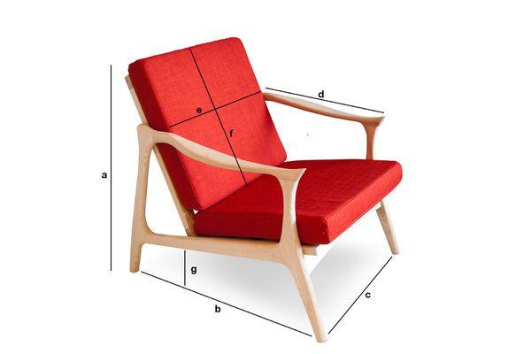 Produktdimensionen Skandinavischer Sessel Aarhus