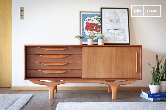 Skandinavisches Büffett aus Holz Alrik
