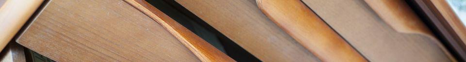 Materialbeschreibung Skandinavisches Büffett aus Holz Alrik