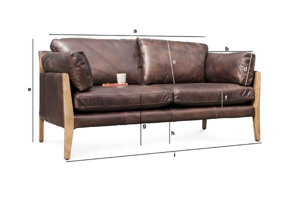 Produktdimensionen Sofa Ariston