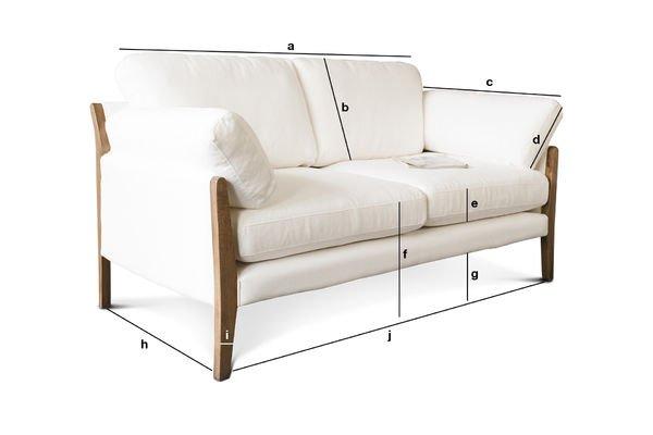 Produktdimensionen Sofa Ariston Weiß
