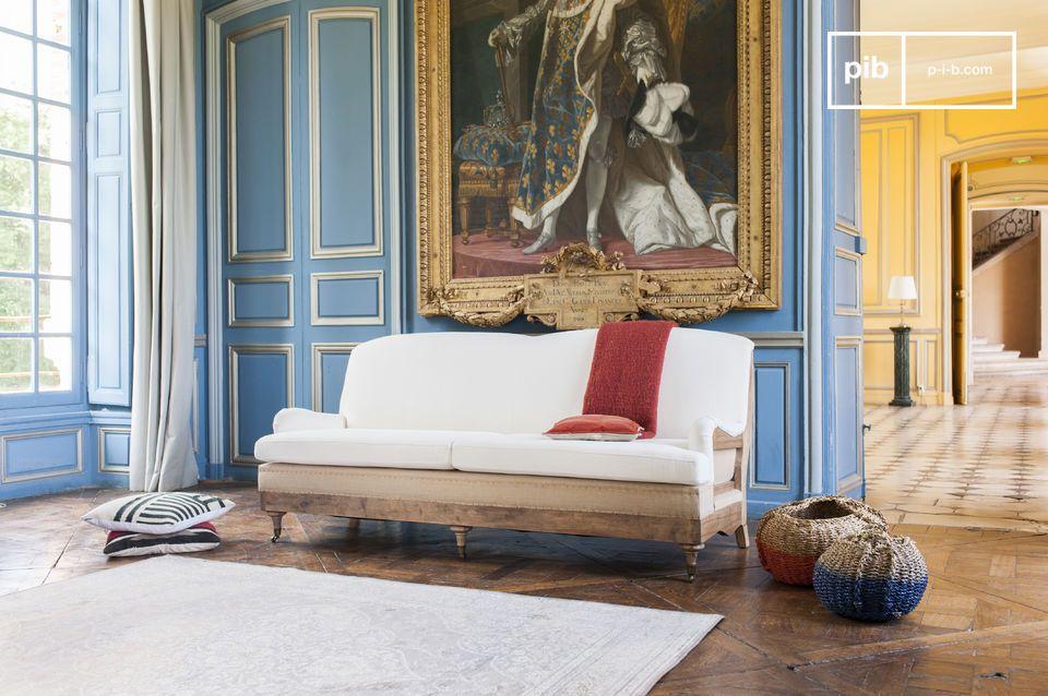 Leinen Sofa im shabby chic Stil
