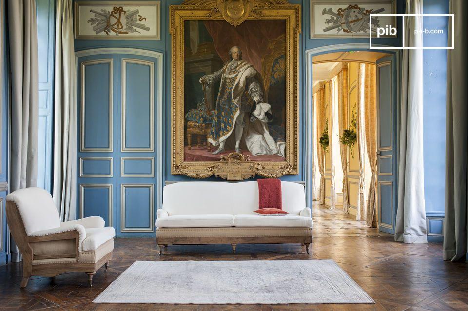 Mit seinen hochwertigen Materialien ist dieses 3-Sitzer Sofa perfekt für ein Wohnzimmer im