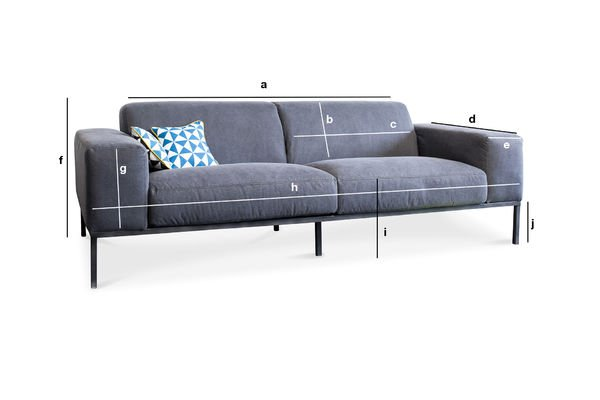 Produktdimensionen Sofa Bergen