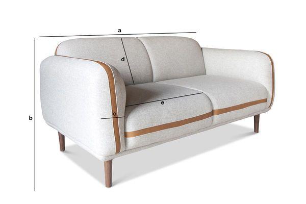 Produktdimensionen Sofa Britta aus Wolle