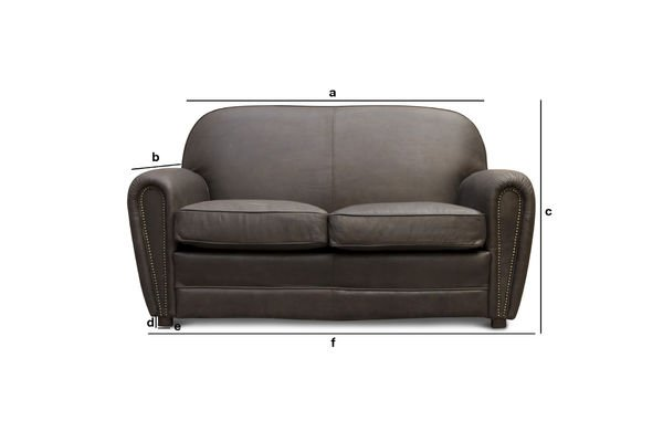 Produktdimensionen Sofa Cigar Club braun
