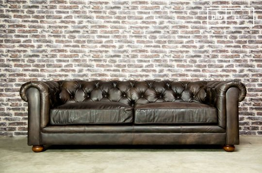 Sofa Dark Chesterfield