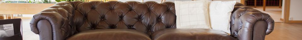 Materialbeschreibung Sofa Dark Chesterfield
