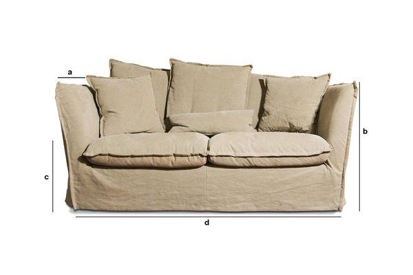 Produktdimensionen Sofa Mélodie Beige