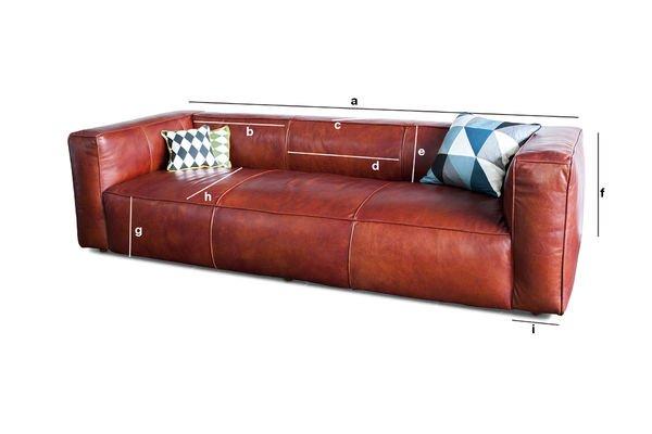 Produktdimensionen Sofa Vintage Krieger