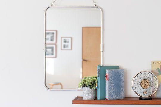 Sonia Retro-Spiegel mit Silberrahmen