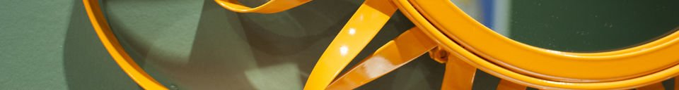 Materialbeschreibung Spiegel Aurinko Orange