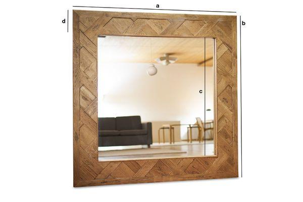 Produktdimensionen Spiegel aus Holz Queens