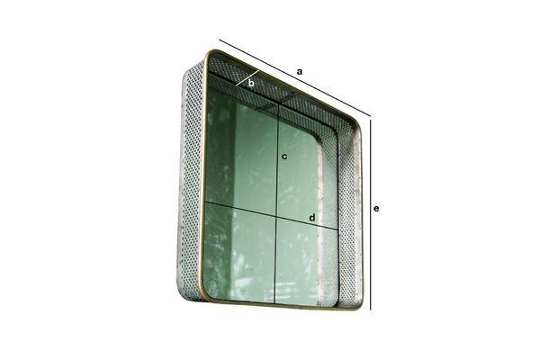 Produktdimensionen Spiegel aus Metall Olonne