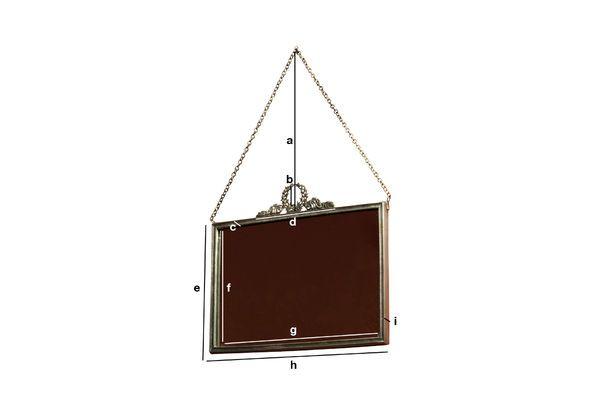 Produktdimensionen Spiegel Flèche de Bronze