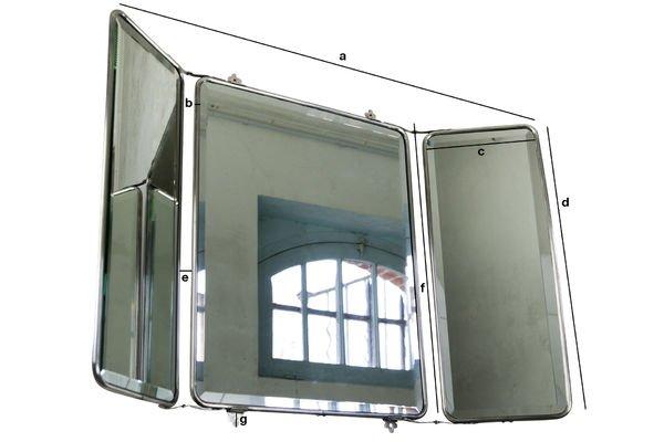 Produktdimensionen Spiegel mit Flügeltüren