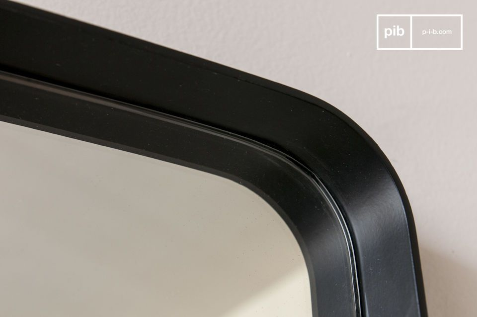 Mit seinem edlen und eleganten Aussehen ist dieser große schwarze Ascain-Spiegel das perfekte