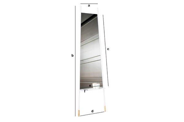 Produktdimensionen Spiegel Trapisa