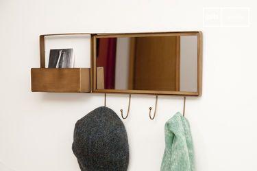 Spiegel und Wandgarderobe Mimizan