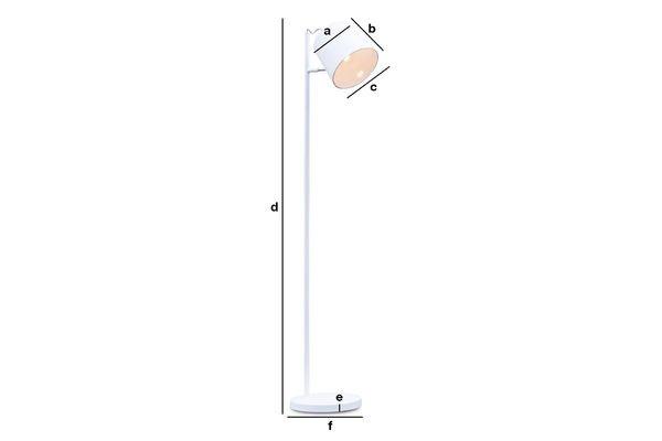 Produktdimensionen Stehlampe Elküb