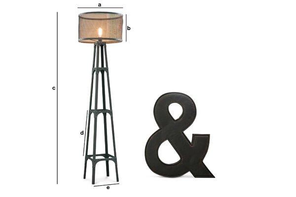 Produktdimensionen Stehlampe Hornby
