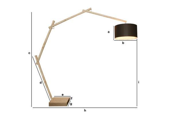 Produktdimensionen Stehlampe Jayjay
