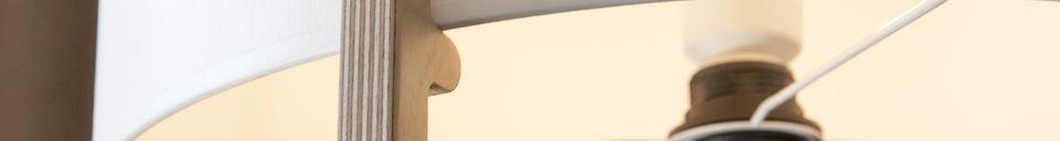 Materialbeschreibung Stehlampe Maspo