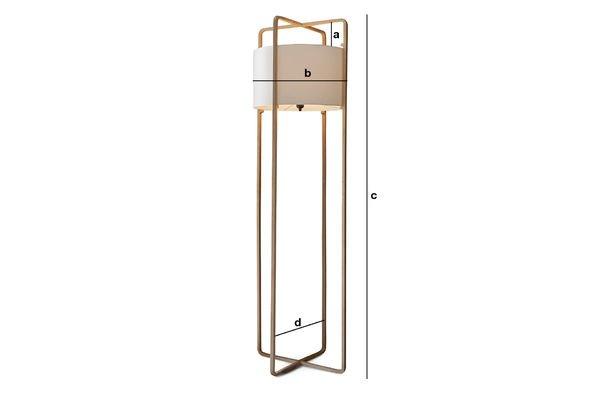 Produktdimensionen Stehlampe Maspo