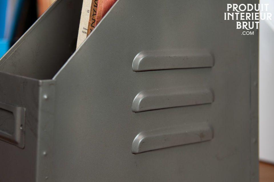 Schenken Sie Ihren Regalen Farbe mit diesen tollen Stehordnern, die ganz aus Metall bestehen