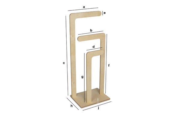 Produktdimensionen Stiller Holzdiener Sweden