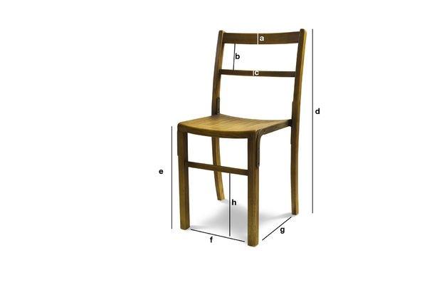 Produktdimensionen Stuhl Abbesses