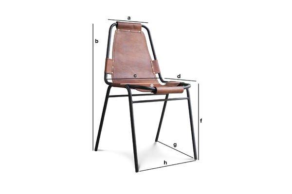 Produktdimensionen Stuhl Bergson