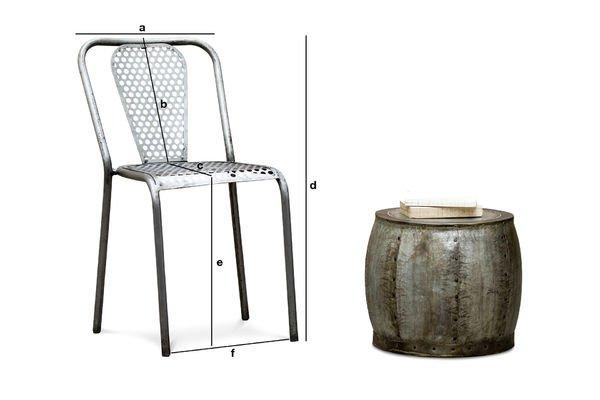 Produktdimensionen Stuhl Bütto