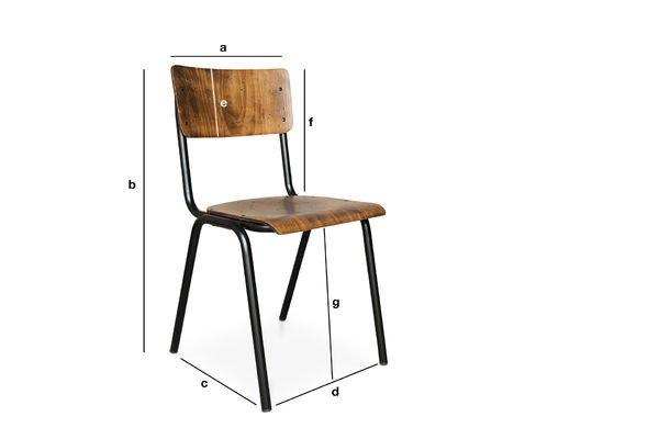 Produktdimensionen Stuhl Doinel