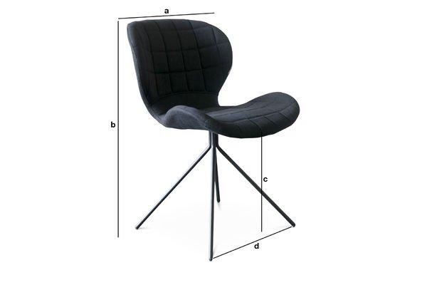 Produktdimensionen Stuhl Hetsik Black