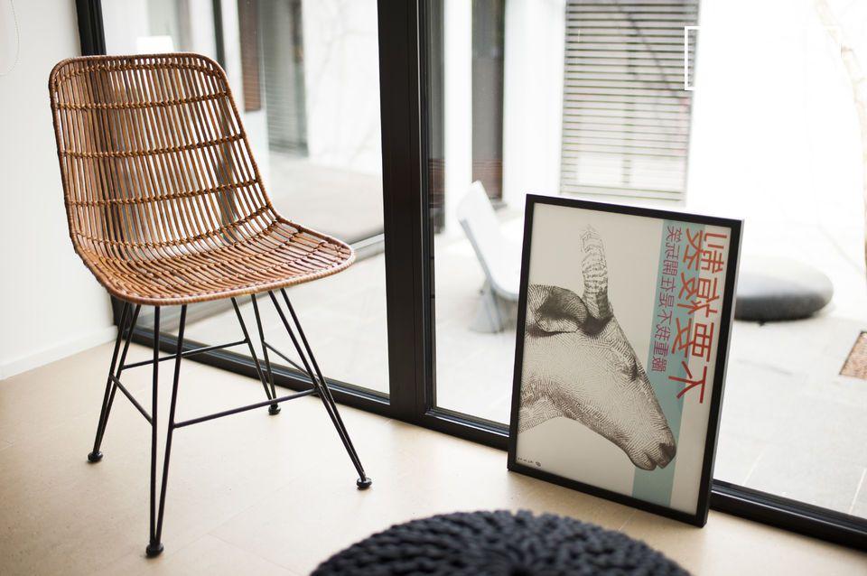 Die Kombination von Rattan, Metall und Vintage Design